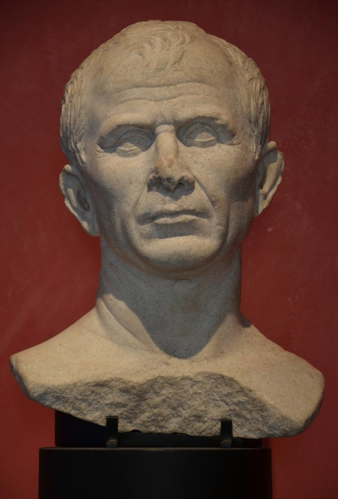 Marble bust found in the Rhone River near Arles, debated as a possible portrait of Julius Caesar, Musée de l'Arles antique © Carole Raddato