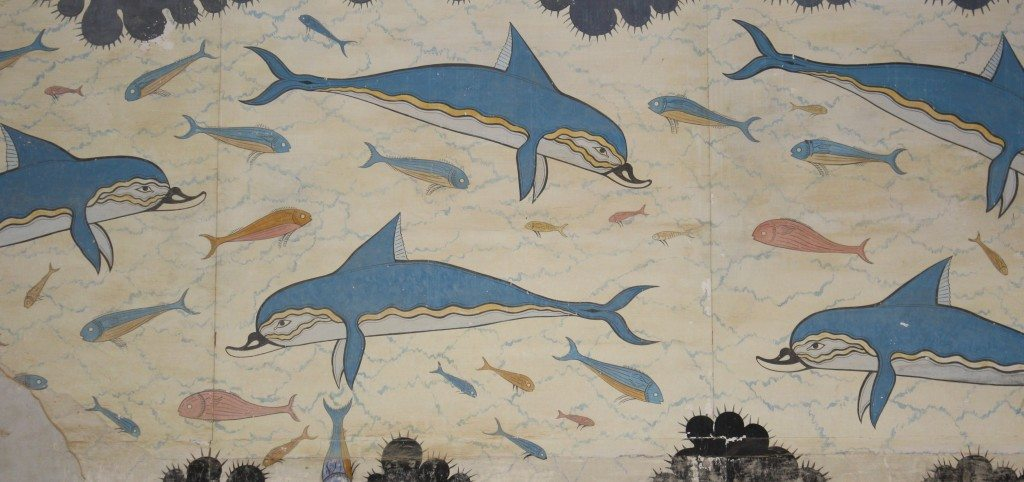 Minoan Dolphin Fresco