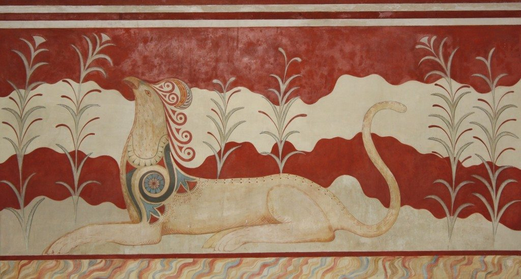 Minoan Griffin Fresco from Knossos, 1700-1450 BCE.