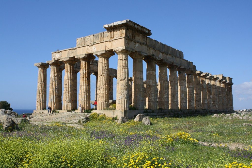 The Temple of Hera (aka Temple 'E'), from Selinus (Selinunte) in Sicily. The temple was dedicated to Hera in the 5th century BCE.