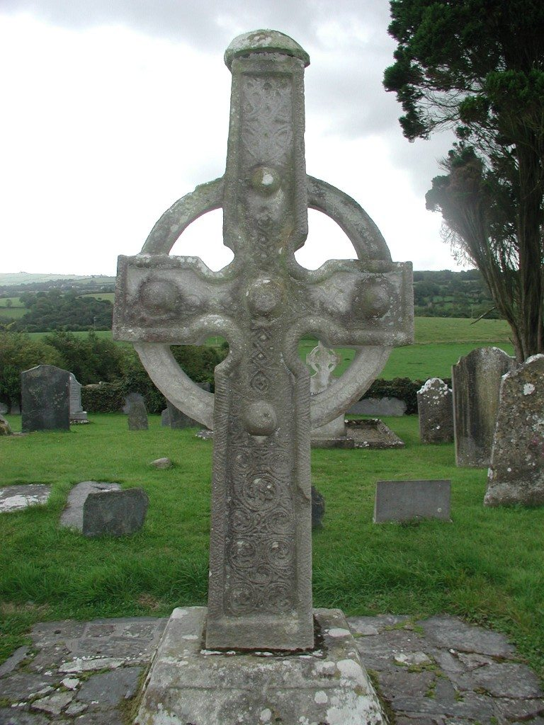 South Cross in Ahenny, County Tipperary, Ireland. This high cross dates to c. 846-862 CE.