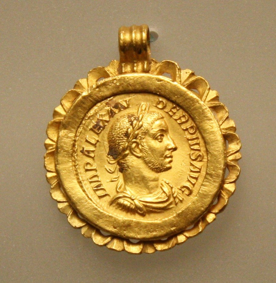 coin a man pendant roman for great