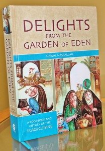 "Cover for ""Delights from the Garden of Eden: A Cookbook and History of the Iraqi Cuisine."""