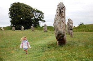 Visitors to the Avebury circle — which encloses nearly 30 acres — are free to revel among the stones. (photo: Rick Steves)