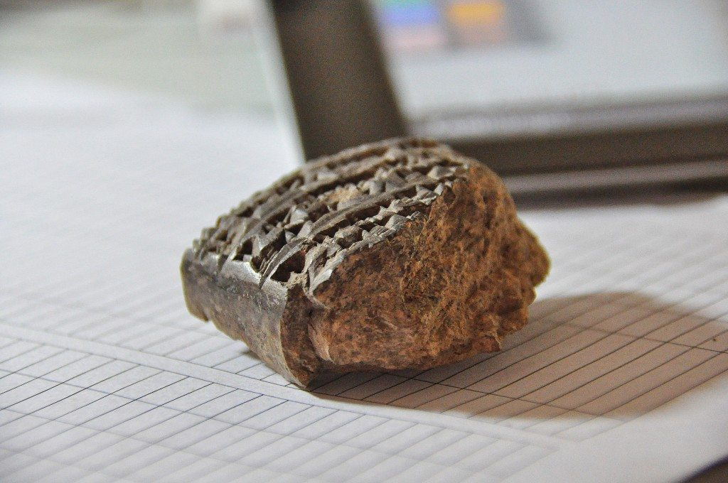 A clay cuneiform tablet which was found recently. in Bakr Awa