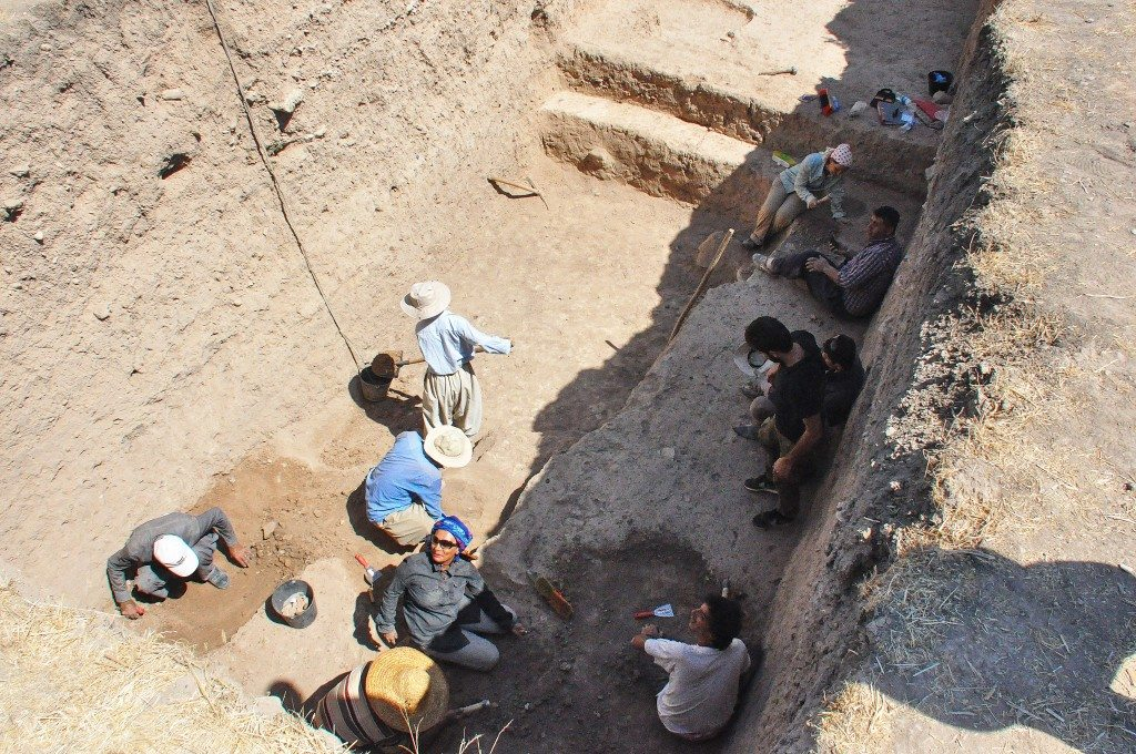 Another team is excavating a separate area. Note how deep they have reached!