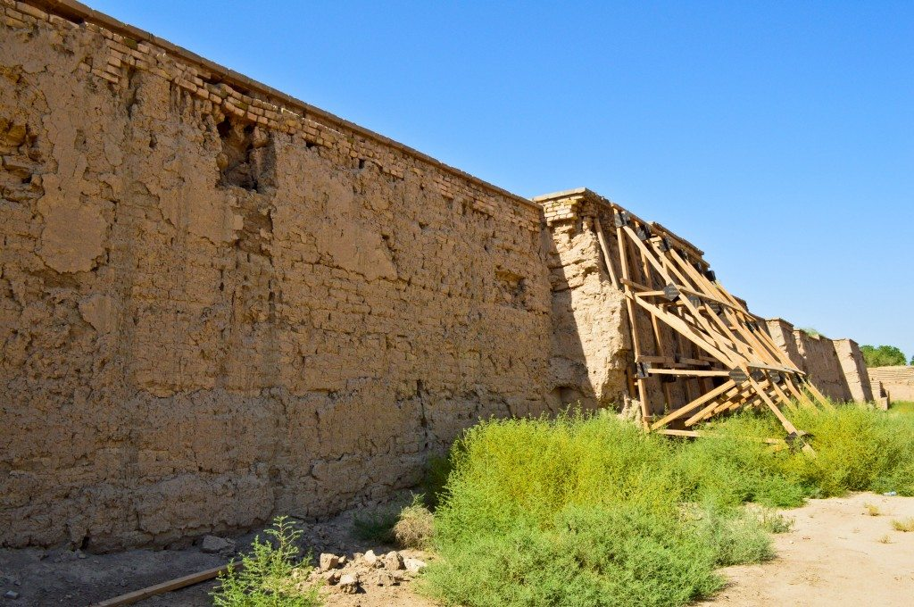 The inner city walls. They are about to collapse. Babylon, modern day Bebel Governorate, Iraq.