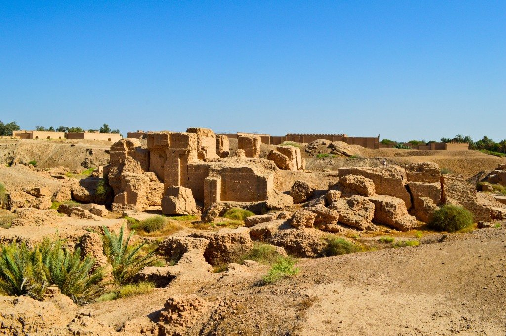 Ruins of the North Palace of King Nebuchadnezzar. This palace was not reconstructed during Saddam's era. Neo-Babylonian period, 605-562 BCE. Babylon, modern day Bebel Governorate, Iraq.