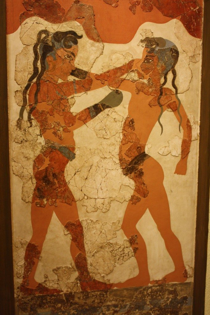 The Bronze Age Boxer Fresco from Thera.