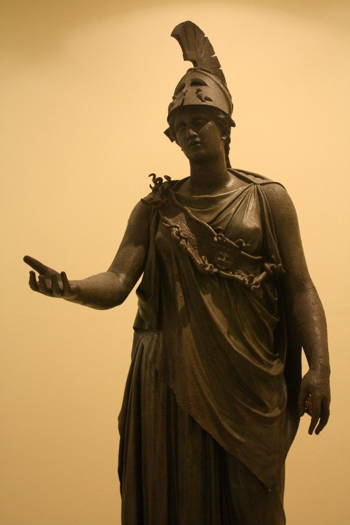 The Piraeus Athena, possibly 4th century BCE. Archaeological Museum of Piraeus.