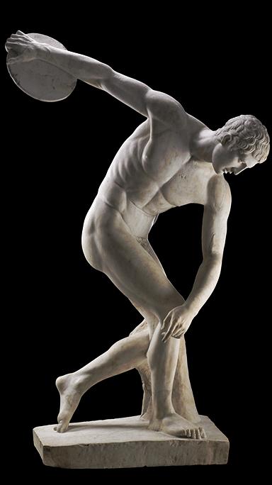 Discus thrower statue.