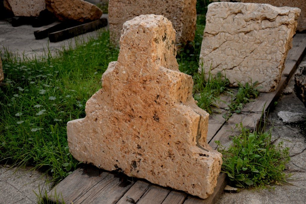One of the stone blocks which was decorating the upper surface of the tower. The Sulaymaniyah Museum. Exclusive photo!