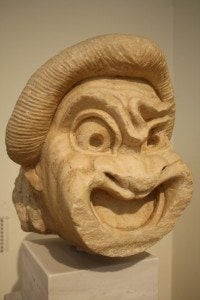 Greek Comedy mask, 2nd century BCE, photo by Mark Cartwright (http://www.ancient.eu/image/3290/).