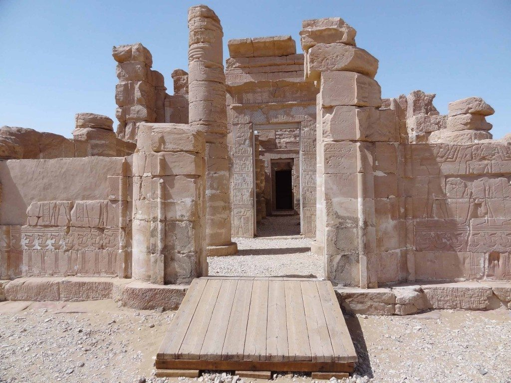 Entrance to the temple at Deir el-Haggar