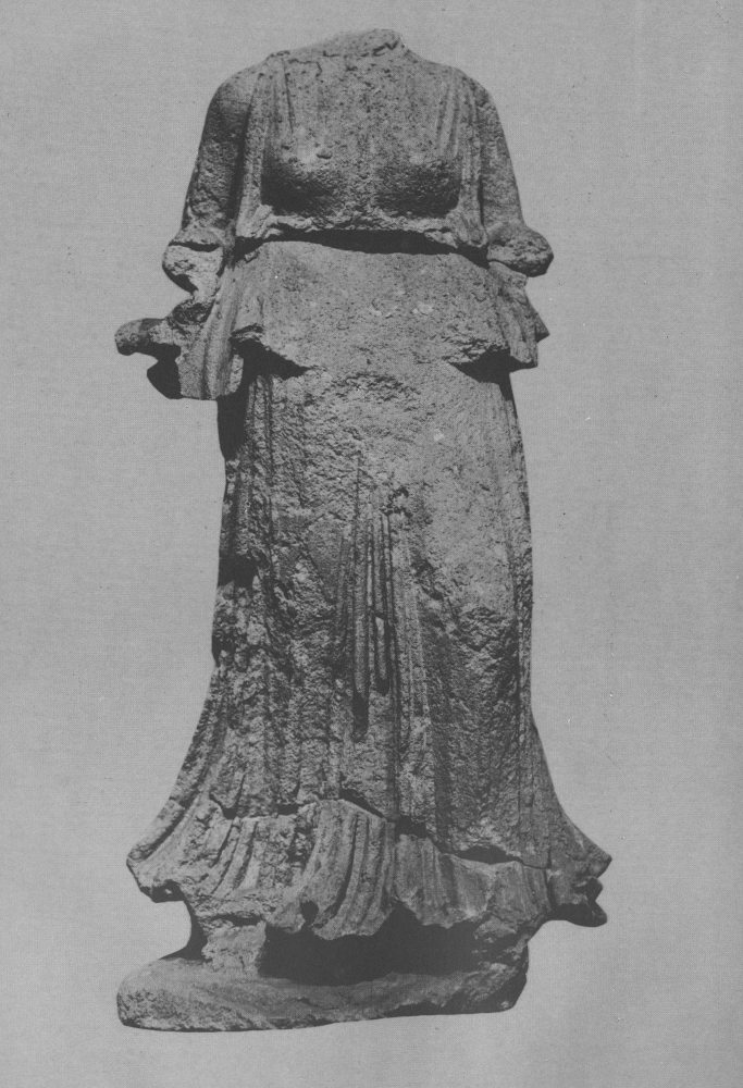 Statue of Nike, Greek goddess of victory. Safar and Mustafa, Hatra: The City of the Sun God, pl. 102 p. 125. This specific statue is kept in Baghdad.