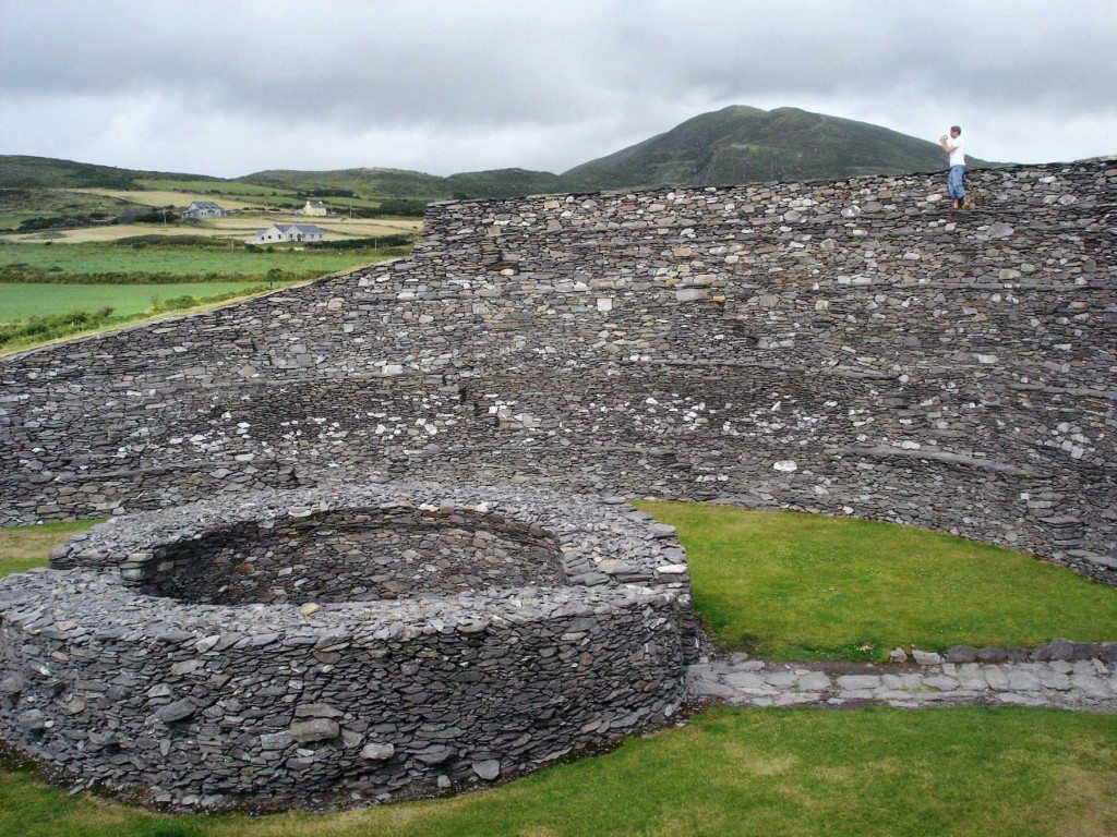 The 2,000-year-old walls of Ireland's Leacanabuaile Ring Fort have withstood the test of time — without the aid of mortar or cement. (photo: Rick Steves)