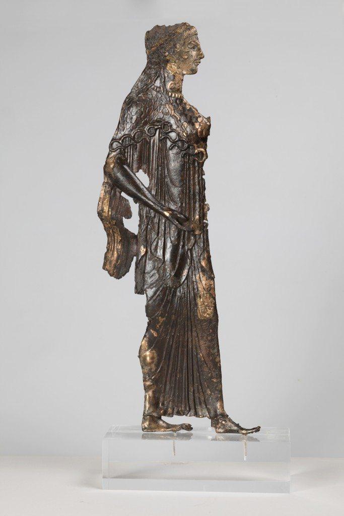 A votive bronze Athena.