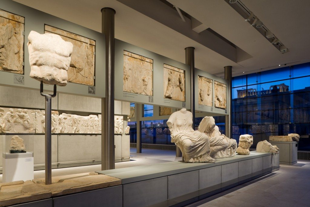 Pediment, Metopes, Frieze, and Temple.