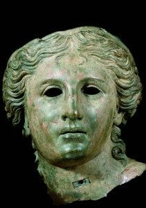 Head of Aphrodite (?). First century BCE bronze 37x 30.5 x 29 cm. London, The British Museum.