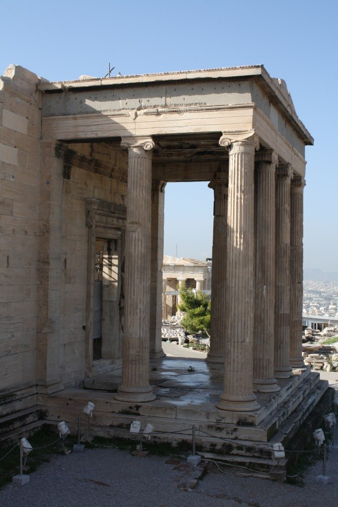 The north porch of the Erechtheion.