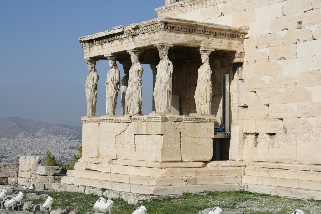 The south porch of the Erechtheion.