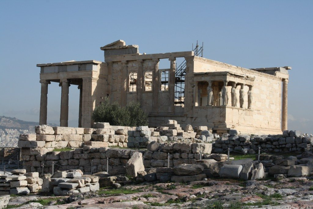 The western side of the Erechtheion.