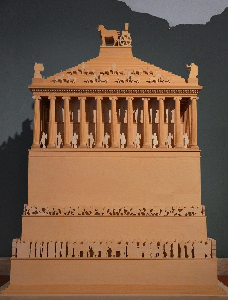Model of the Mausoleum of Halicarnassus.