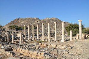 Colonnaded street, Scythopolis (Beth-She'an)