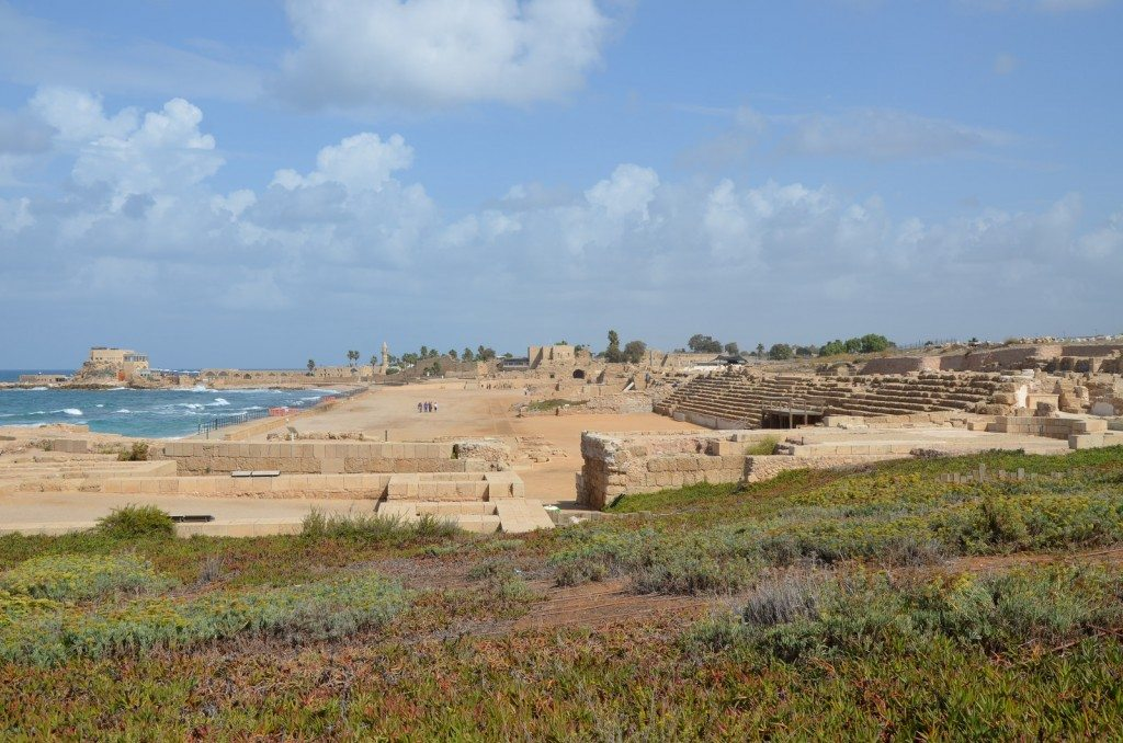Herod the Great's palace and hippodrome, Caesarea, Israel