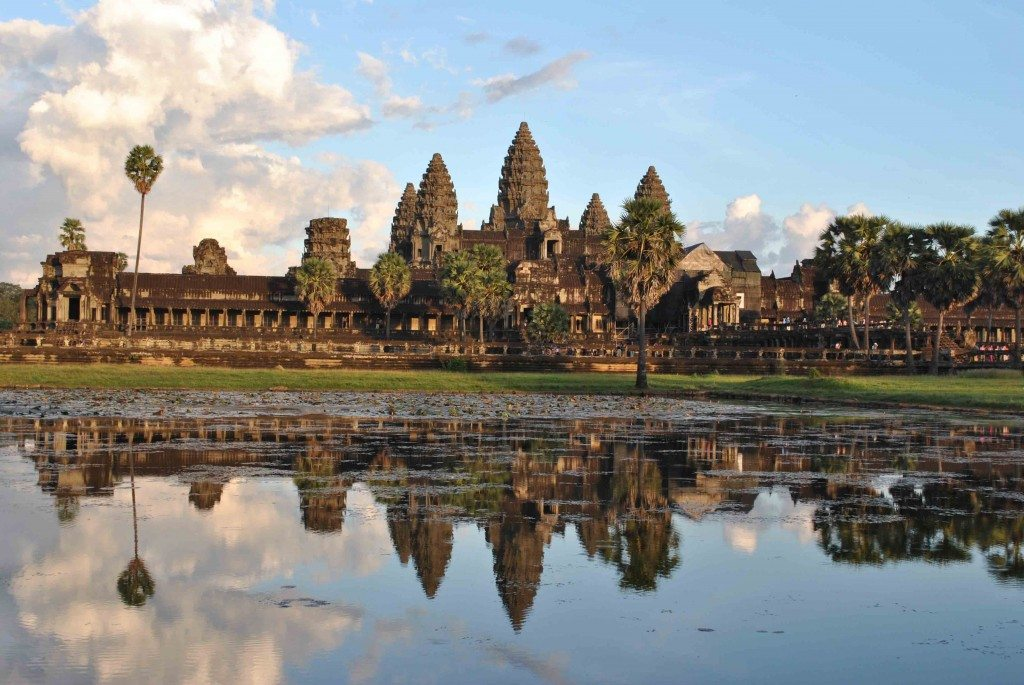 Angkor Wat reflected in surrounding pool. Photo © Annabel Venn