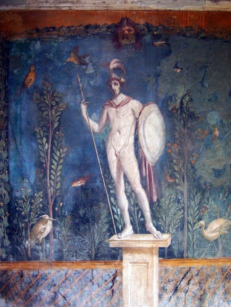 Fresco of a Statue of Mars, Pompeii