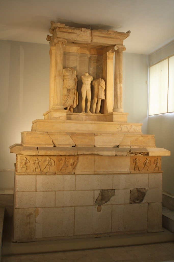 The Monument of Kallithea, a funerary monument of Nikeratos and his son Polyxenos, 4th century BCE..