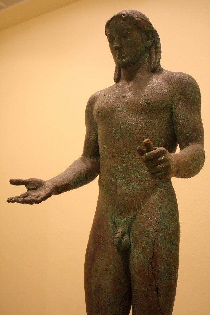 The Piraeus Apollo. Bronze, 5th century BCE.