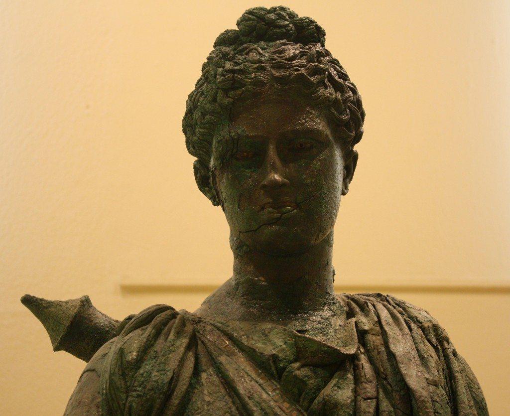 The second bronze statue of Artemis in the Piraeus Musuem. Late 4th century BCE.