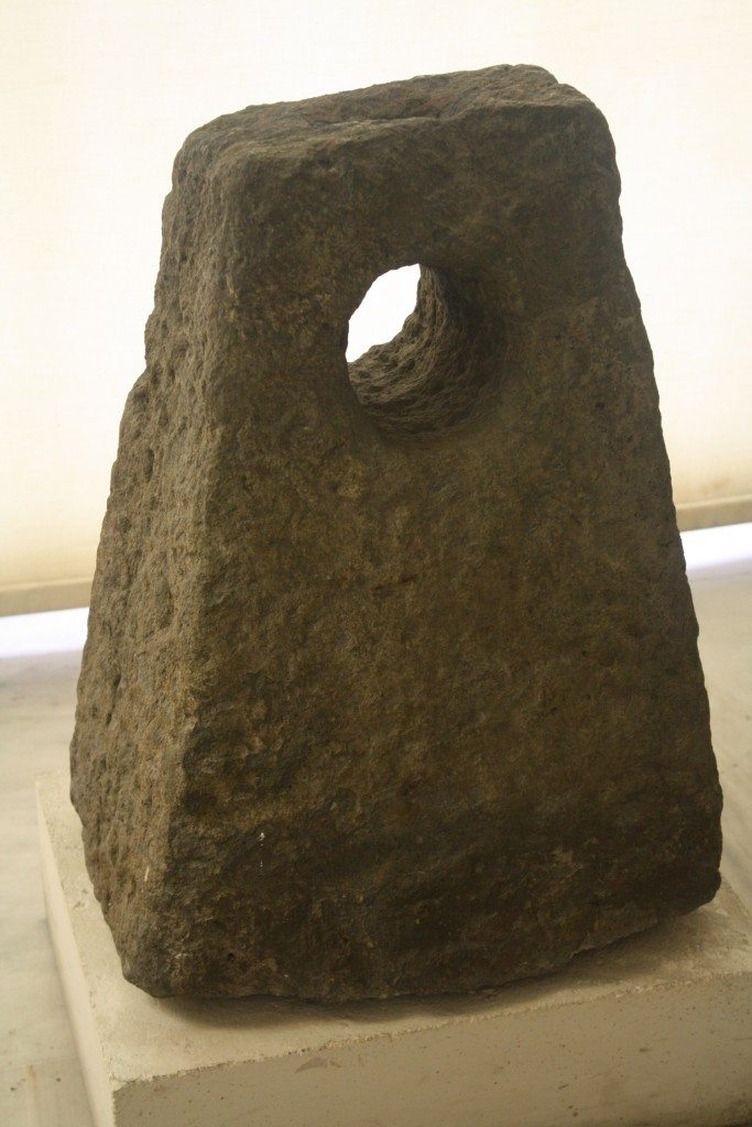 A stone anchor from a Greek sailing vessel, Piraeus.