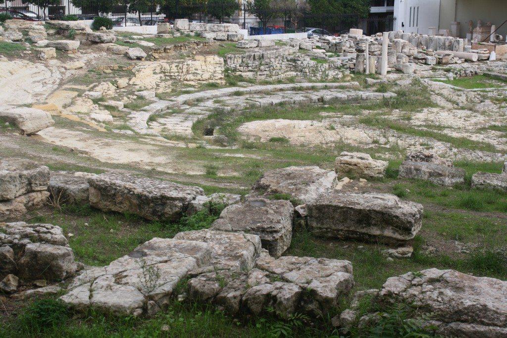 The Hellenistic theatre of Zea, Piraeus in the museum gardens.