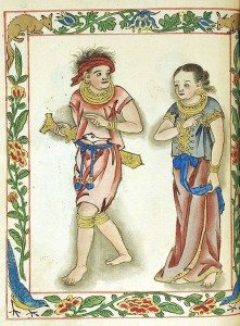 Detail from the Boxer Codex. Collection of the Lilly Library, Indiana University, Bloomington, Indiana. Image courtesy of the Lilly Library.