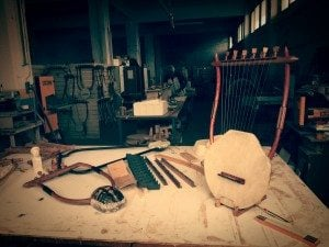 In the Luthieros workshop.