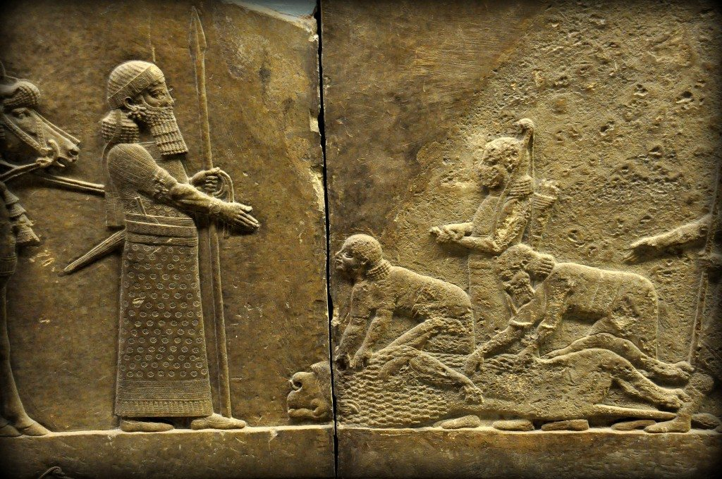 Assyrian lion hunting at the british museum ancient history et cetera - Moderne overwinning ...