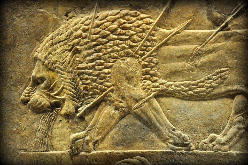 Assyrian Lion-Hunting at the British Museum