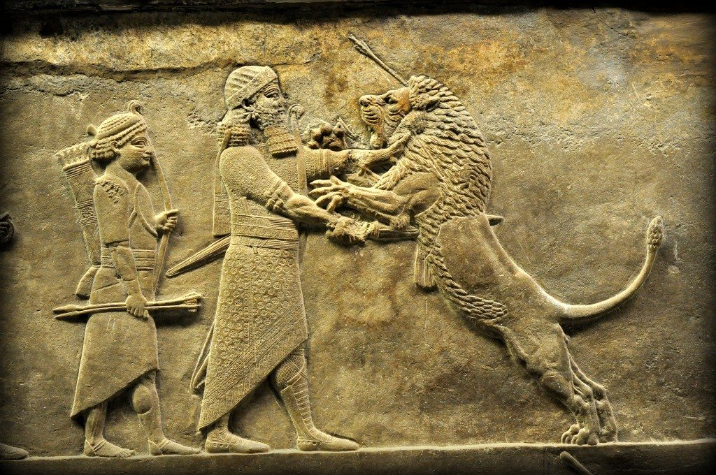 Reliefs and figures of Mesopotamia - Sale of art |Wounded Lioness Mesopotamia Ancient Art