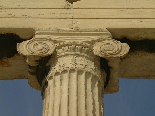 Ionic capital from the Acropolis, Athens, (447-432 BCE). Photo © Mark Cartwright.