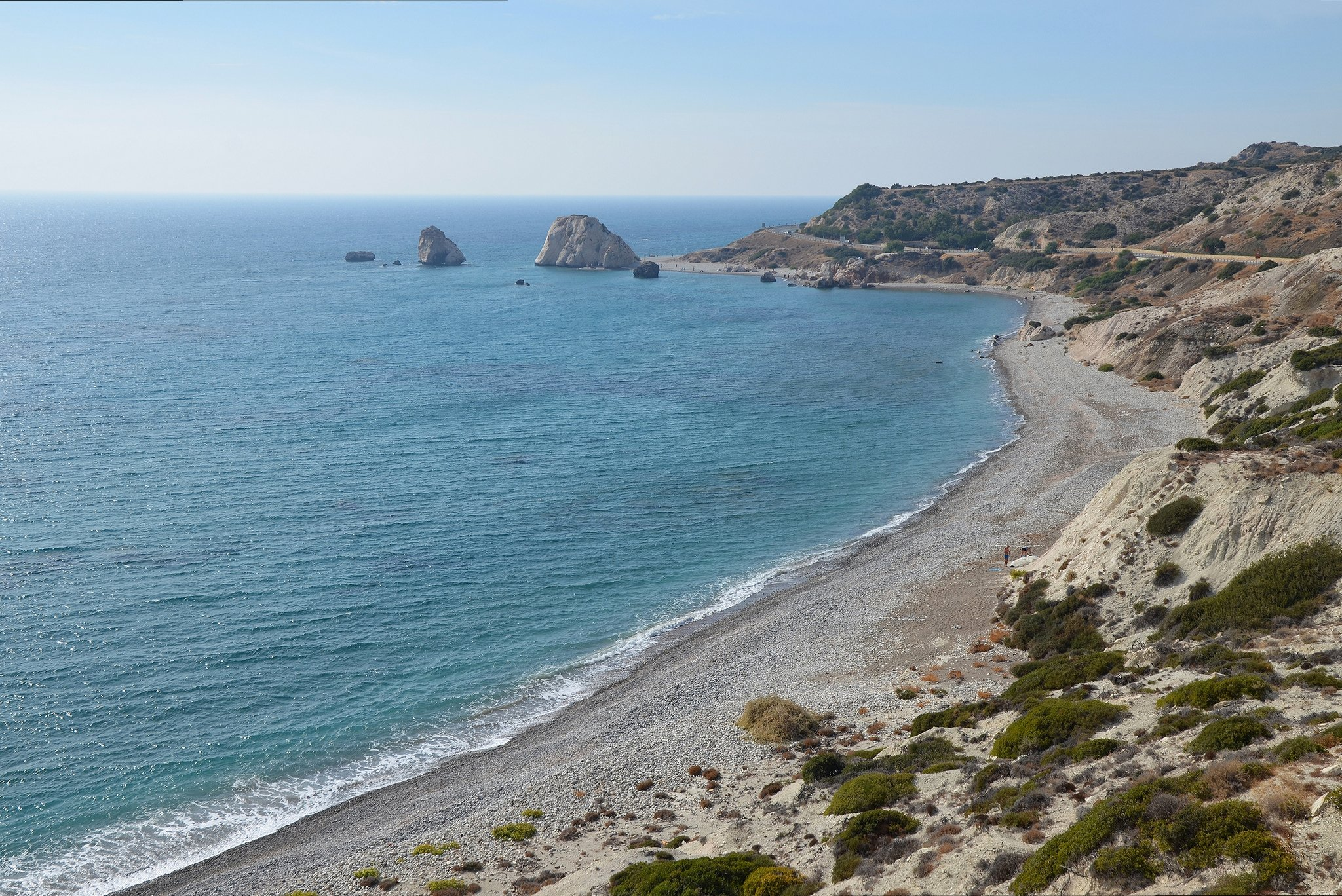 Aphrodite's Rock, the site of the birth of the goddess Aphrodite, Cyprus