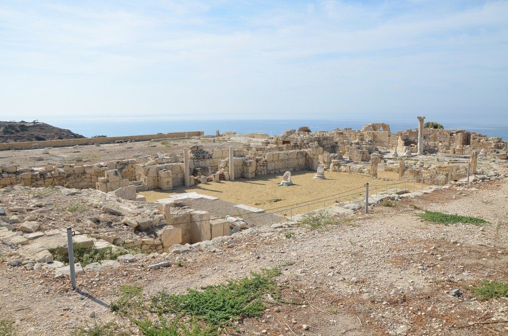The ruins of the Early Christian Basilica overlooking the sea, Kourion