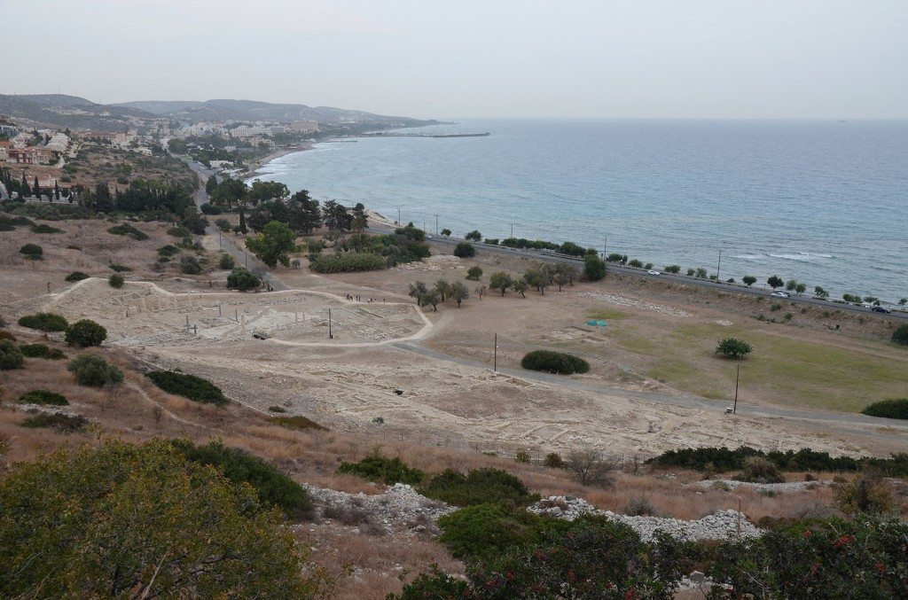 Overview of the Agora and lower city from the Acropolis, Amathous, Cyprus