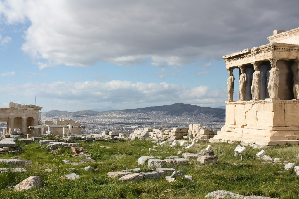 View of the Acropolis in Greece.