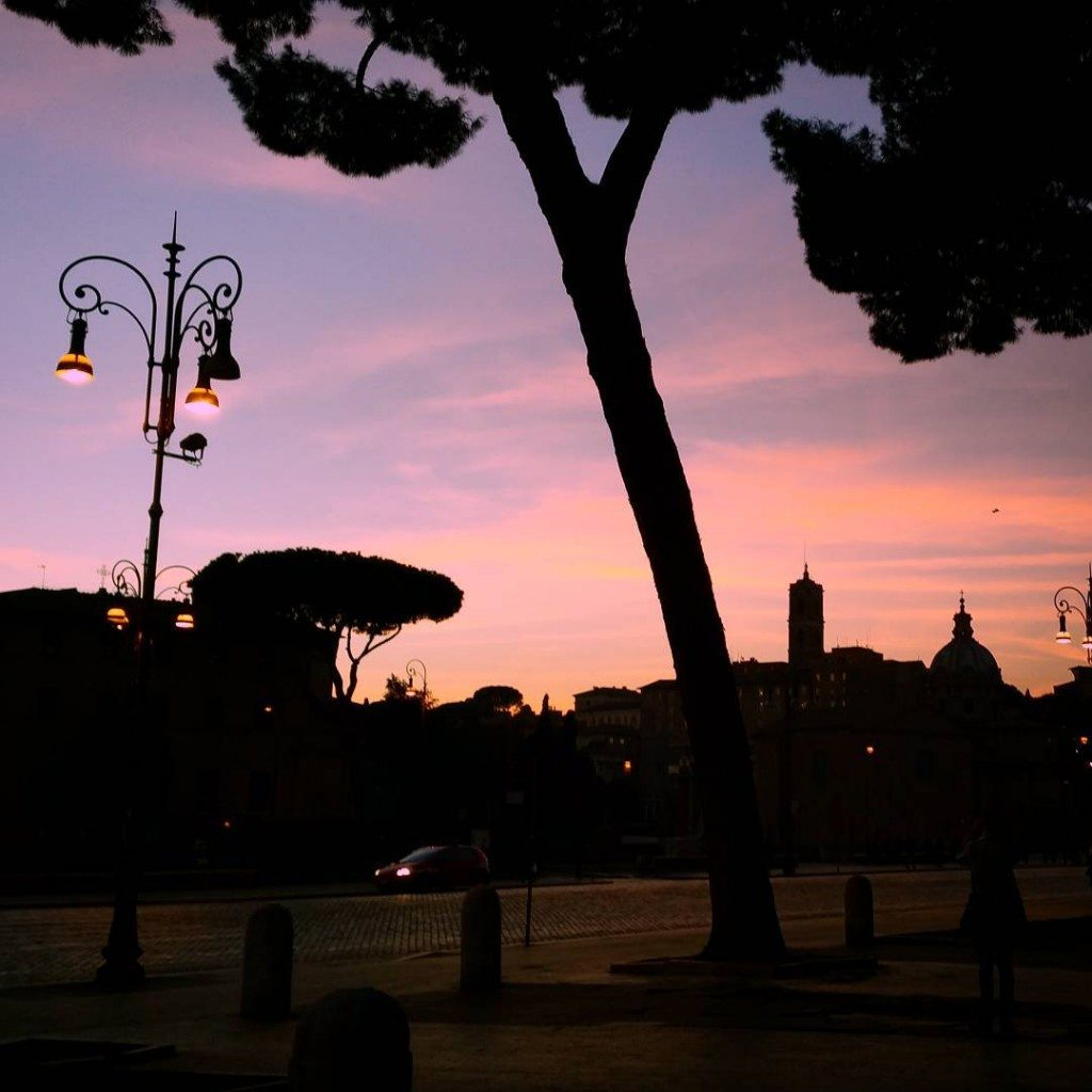 Our view of dusk during our Rome visit