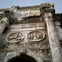 The Arch of Constantine seen during our Rome visit.