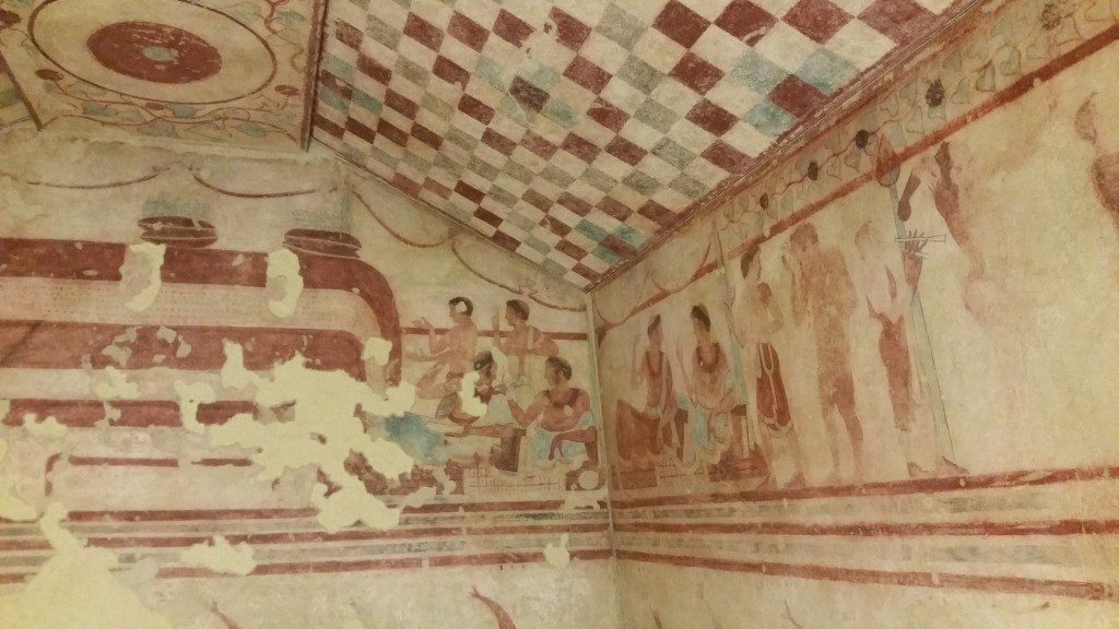 Etruscan tomb as seen during our Rome visit