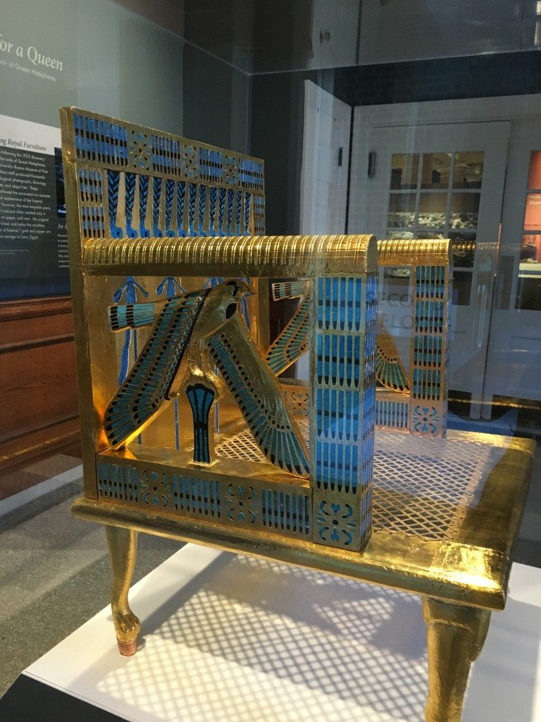 The Egyptian queen's throne.